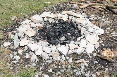 cendres d'un feu de camp