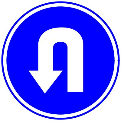 panneau demi-tour obligatoire
