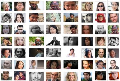 galerie de visages très divers