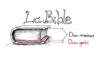 une Bible avec un Dieu méchant d'un côté et gentil de l'autre ?