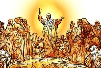Jésus prêche à la foule