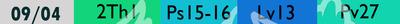 liste des lectures bibliques du 09/04/2021